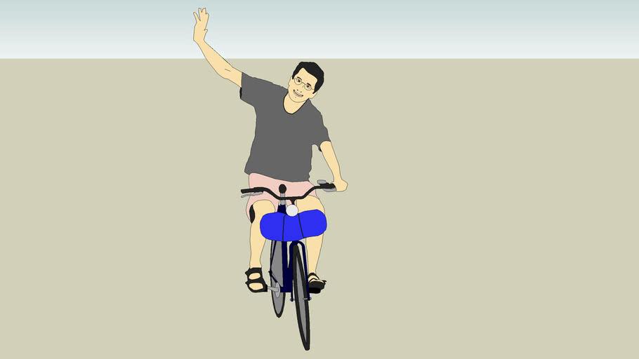 2D -  Man riding a Bicycle