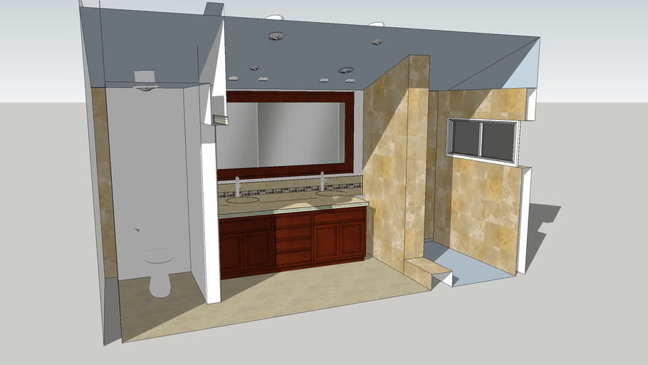 Master bathroom remodel. Includes cross sections.