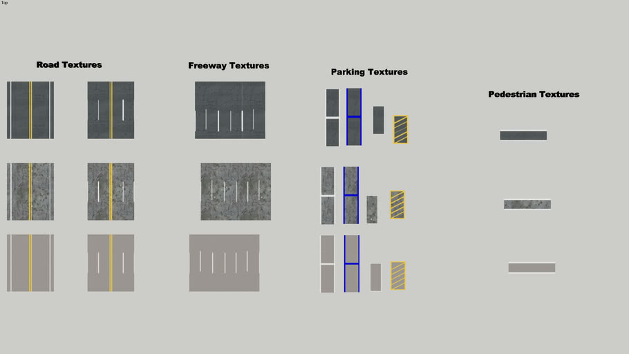 Road Texture Pack 5 Mb 3d Warehouse