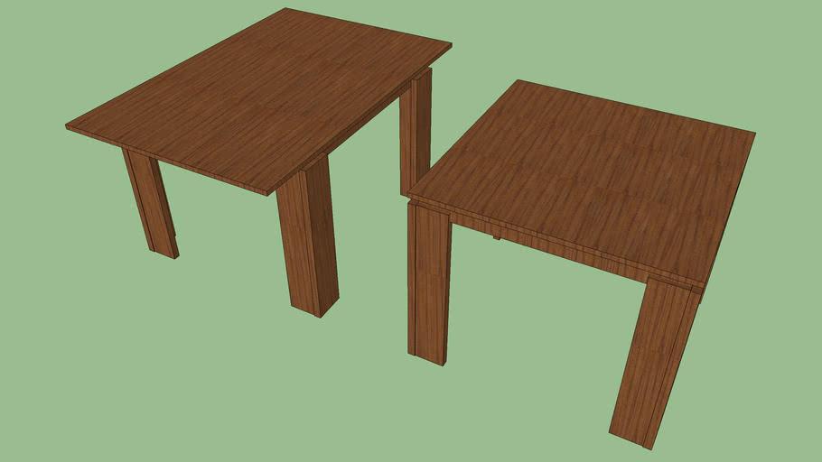 """LAZZONI MAS720 EXTENDABLE DINING TABLE SQUARE (38"""")"""