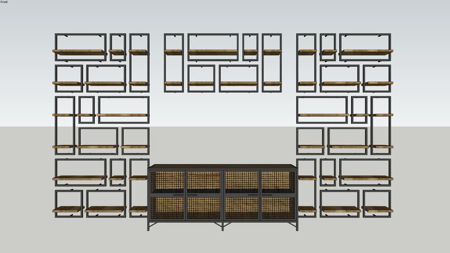 Wall Shelf - Puzle - Mobexpert