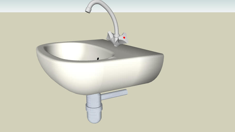 Waschbecken mit Armatur