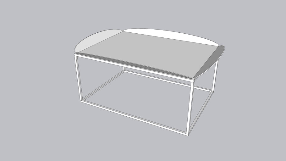 Floret L_Coffee table_Bright White - Textured