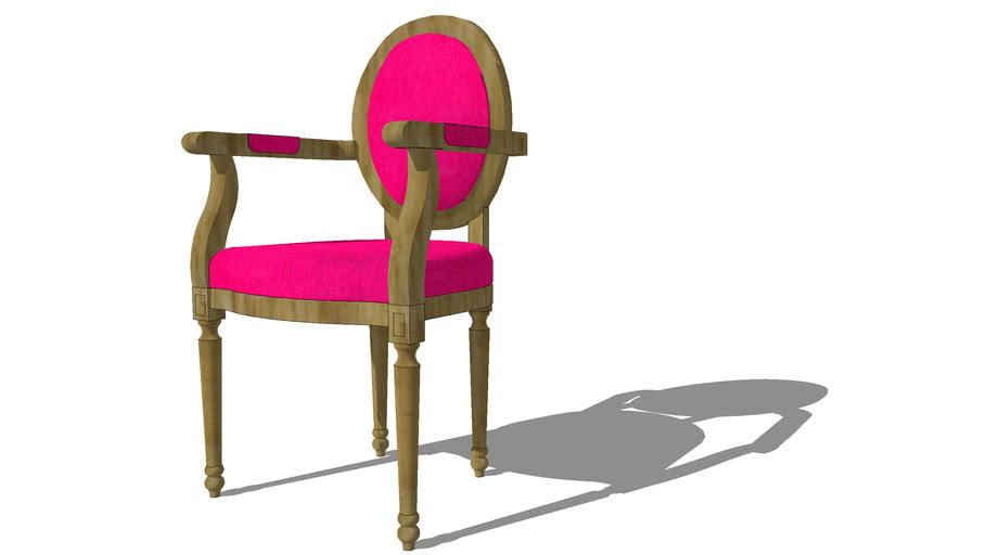 Fauteuil fuchsia LOUIS, Maisons du monde, réf 111621, prix 199.00€