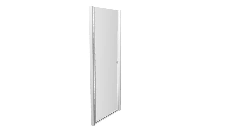 """K-702416-L Fluence(R) Pivot shower door, 65-1/2"""" H x 27-1/4 - 28-3/4"""" W, with 1/4"""" thick Crystal Clear glass"""