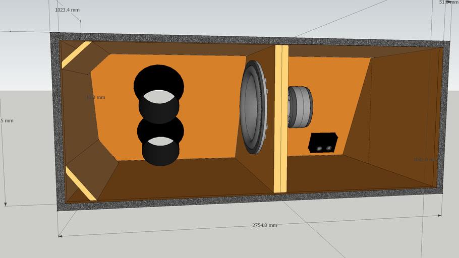 Bandpass box for Bmw E46