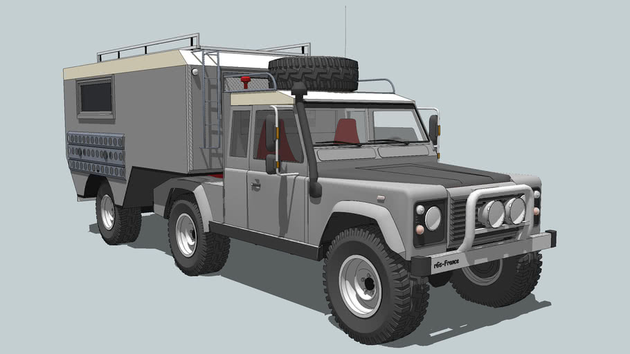 Land Rover Defender 110 + 5th Wheel Camper