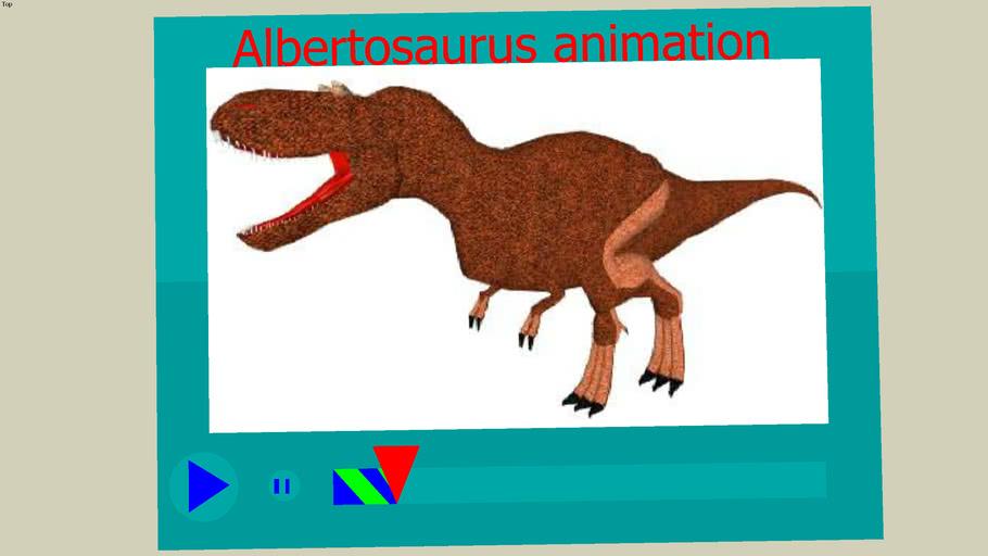 Albertosaurus animation update (to big for 3dwarehouse)