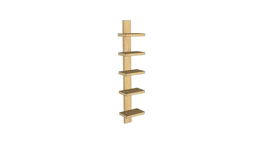 Mondeo Wall Shelf 5-Shelves_Unfinished