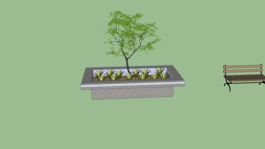 Skate ledge planter
