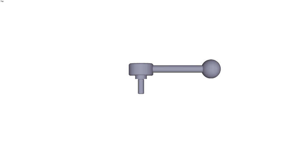 Indexing flat tension lever external...0° size 2 M10  threaded rod length 25 mm