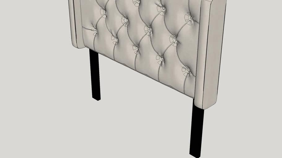Celestina Upholstered Wingback Headboard