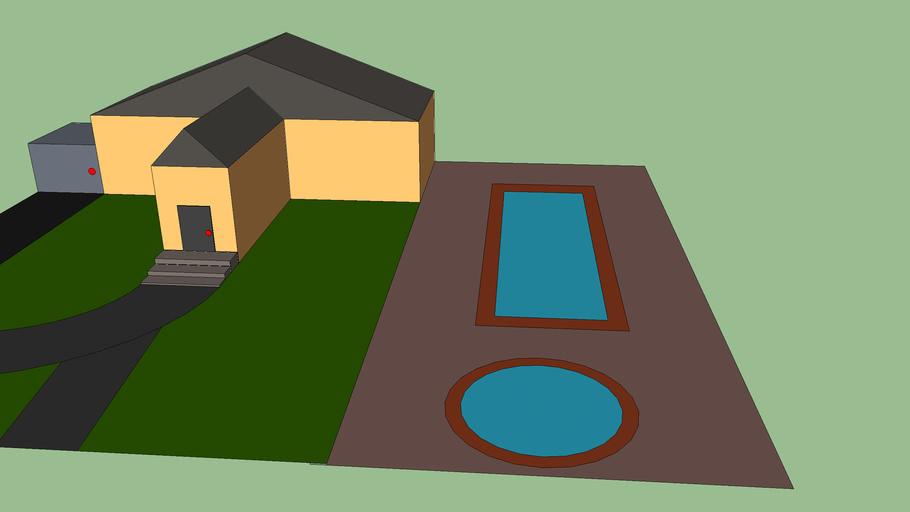 villa avec piscine et garage