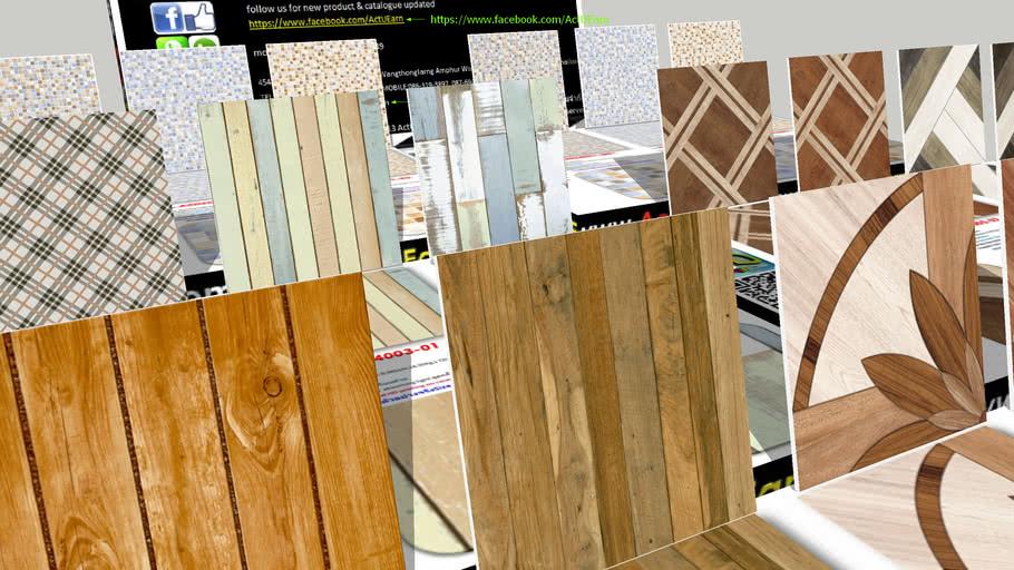 กระเบื้อง Digital Printing HD Ceramic Tiles ActUEarn3D Catalogue Part007