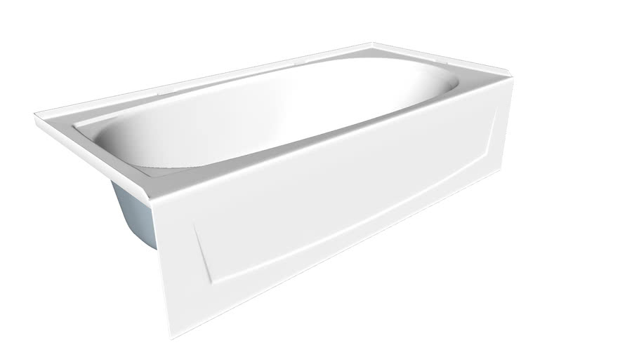 71041110 Performa(TM) Series 7104, 60 inch x 29 inch bath - left-hand drain
