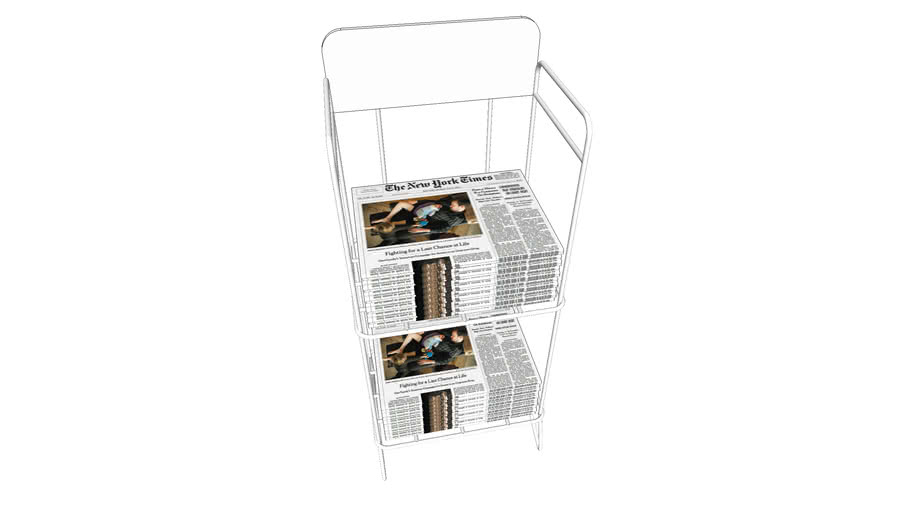 Newspaper Stand - Metal Rack