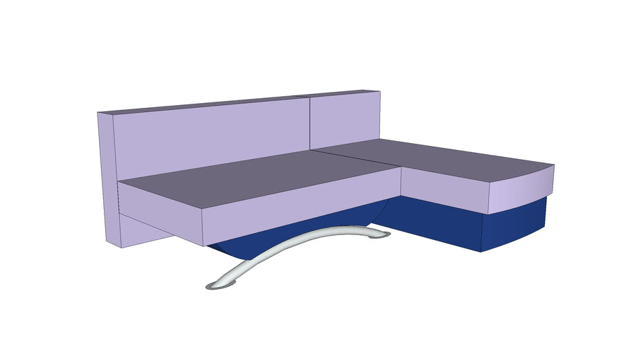 Mėlyna sulankstoma sofa-lova
