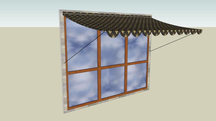 Okno balkonowe  z markizą