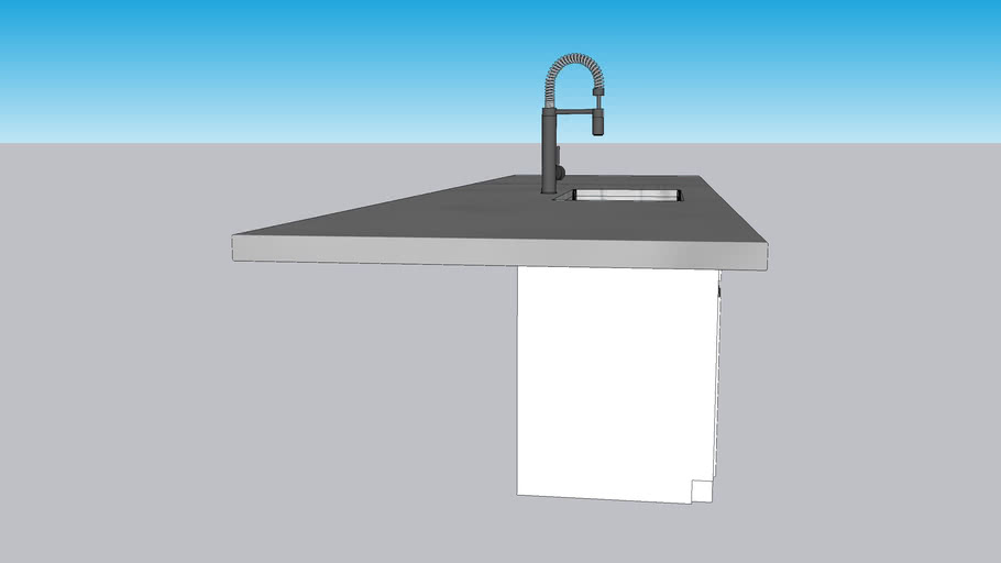 Kitchen Sink Cabinet Counter