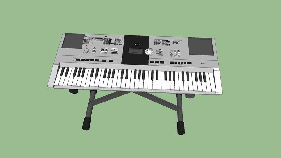 Yamaha keyboard on stand