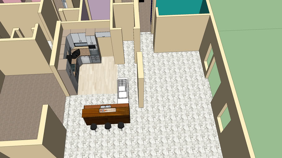 rooms and kitchen