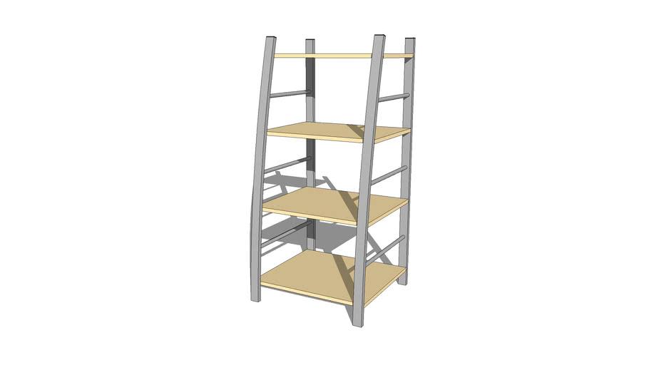 Casual 4-tier Bookshelf