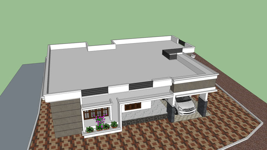 Home Elevation Flat Roof 3d Warehouse