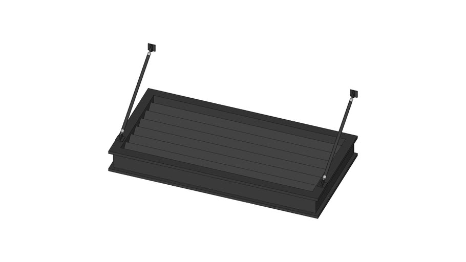 Metal Awning - Finned