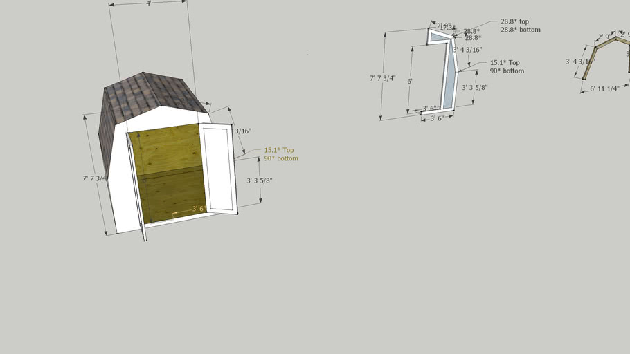 small garden shed design - build plans