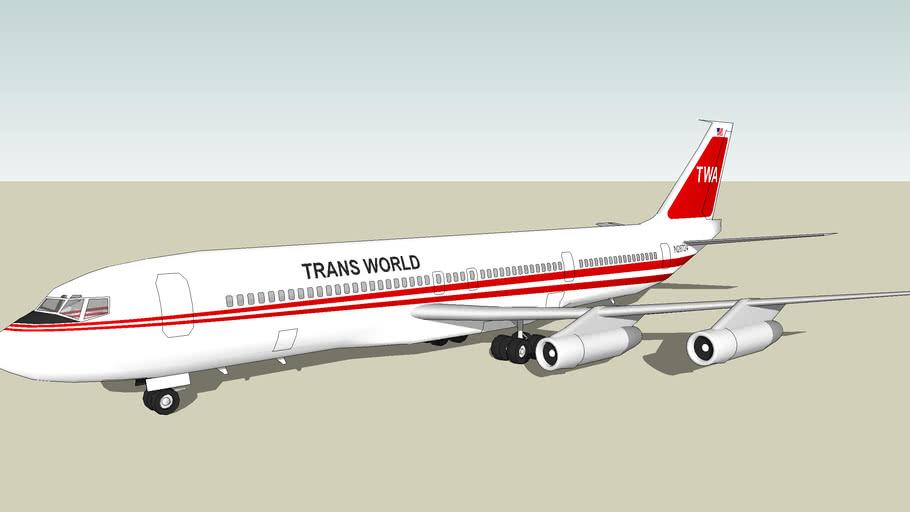 Trans World Airlines (TWA) Boeing 707-300B