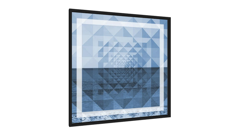 Quadro Blue Miami - Galeria9, por Du Amaral