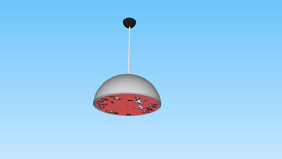 Atitlan Dome Pendant Lamp White-Red