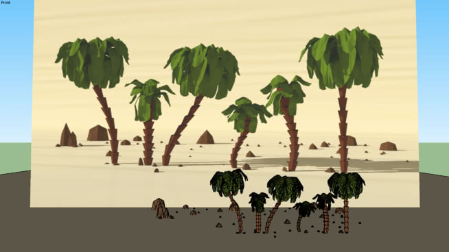 Low Poly Palms