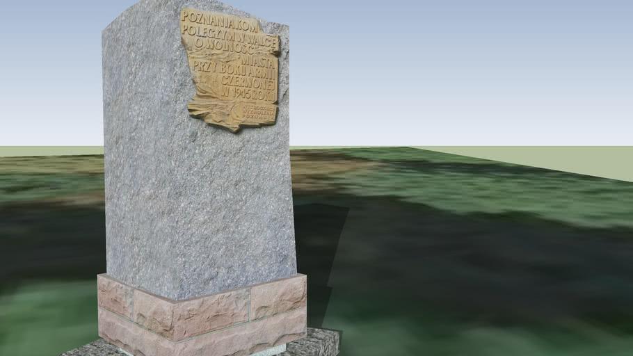 Pomnik upamiętniający poznaniaków walczących o cytadelę w 1945 roku.