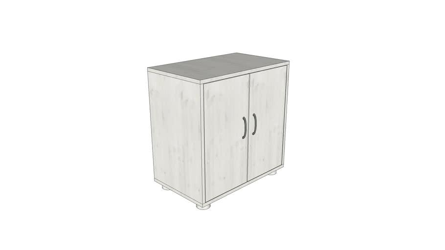 Flexa cupboard whitewash 74x72x43