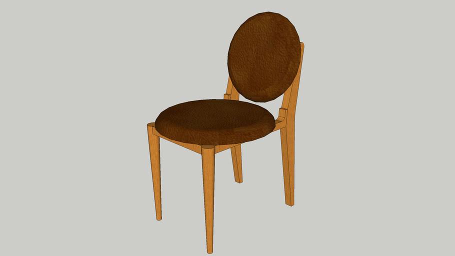 Cadeira Maria - Mel em Couro Pinhão