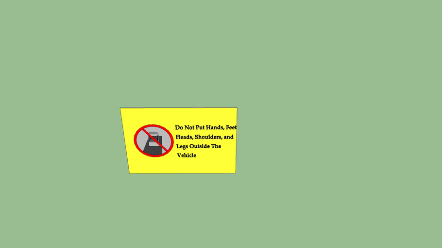 the cool kat caution sign