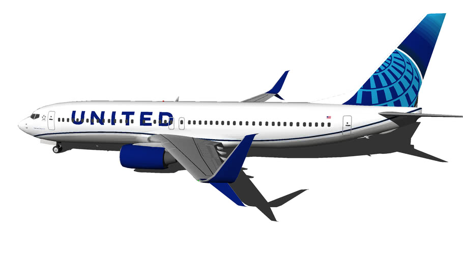 United Airlines Boeing 737 800 New Livery 2019 3d Warehouse