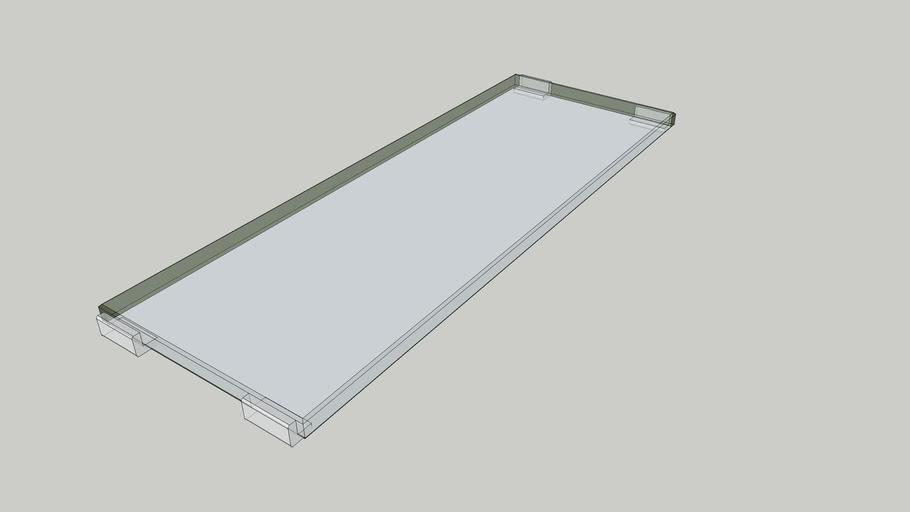 SONATTA LAVABO PRANCHA GLASS MATTE 10x28,6x1,5 - PORTOBELLO