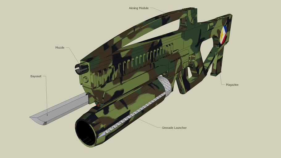 """Philippine Assault/Battle Rifle """"Tamaraw 1"""" (concept)"""