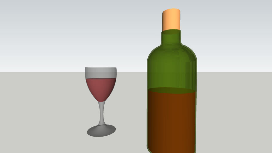 glass w/ wine