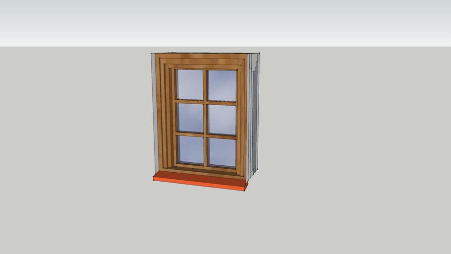 Cottage pane window 600 x 750