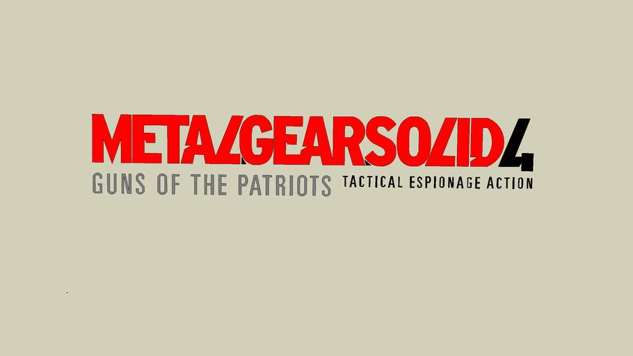 Metal Gear Solid 4 Guns of the Patriots logo