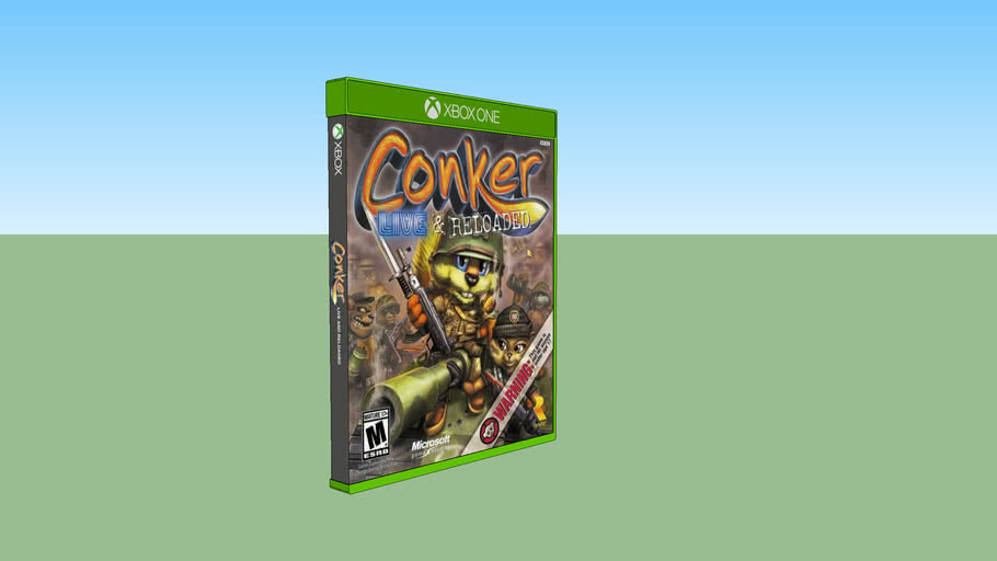 Conker: Live & Reloaded Xbox compatible with Xbox One game case