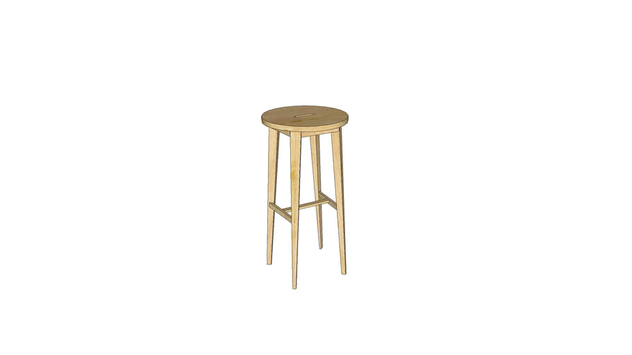 Mondeo Bar Stool_Unfinished