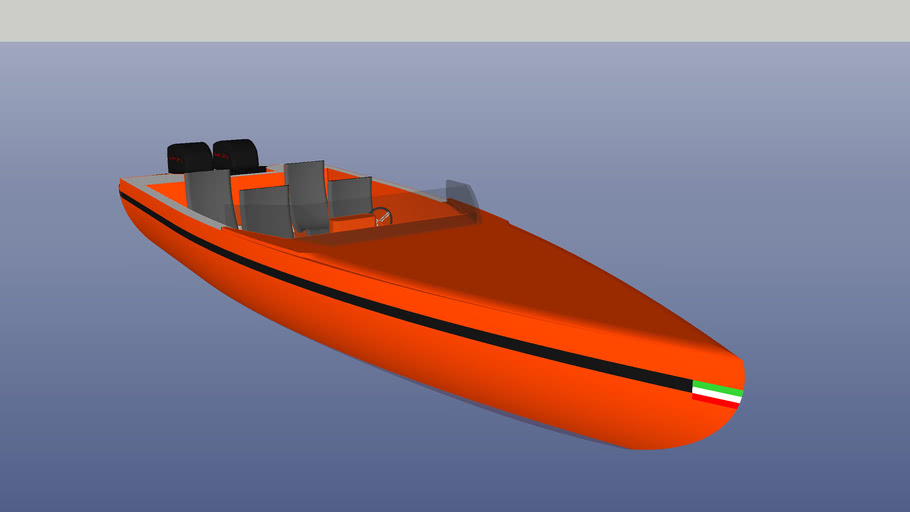 Power Boat scafo arancio