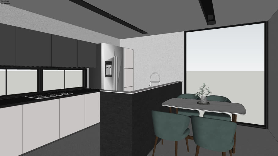 Modern Industrial Kitchen And Dining 3d Warehouse