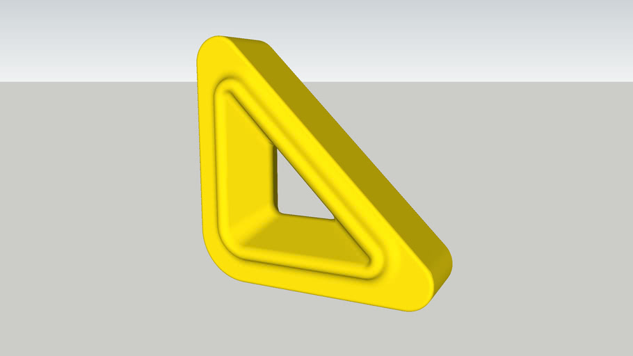 Cobogó Nova Bauhaus Triângulo V Amarelo (elemento vazado) Burguina Cobogó