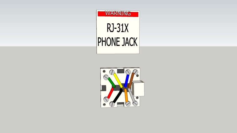 RJ31X Fire and Burglar Alarm Panel Phone Jack