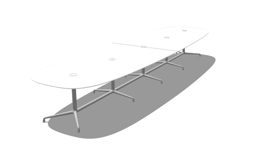 Coalesse, SW_1, Conference Table, Super Elliptical, 2pc, Lam, 216x28.5